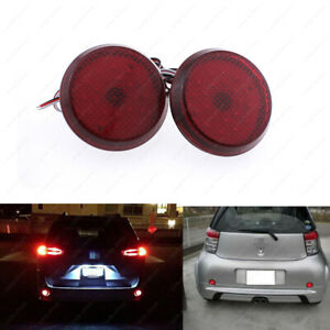 2pcs Red Lens 21 Smd Led Bumper Reflectors For Scion Xb Iq Toyota Sienna Corolla