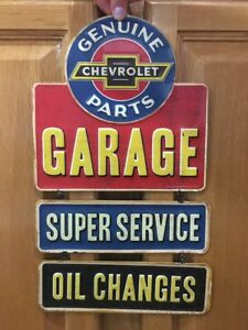 Chevrolet Garage Parts Oil Change Coupe Chevy Coke Vintage Style Decor Car Truck