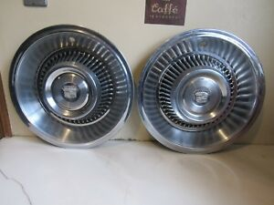 Vintage Pair Of 1964 Cadillac Wheel Cover Hubcaps