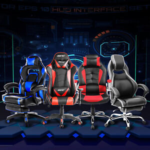 Sale Office Gaming Chair High Back Racing Recliner Bucket Seat Executive Swivel