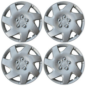 New 4 Pc Set Hub Cap Abs Silver 16 Inch Rim Wheel Cover Replica Covers Caps