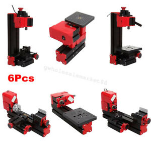 6 In1 Diy Drilling Milling Grinder Sawing Metal Lathe Machine Multifunction Usa