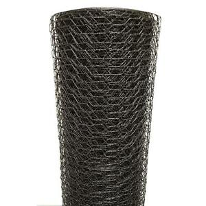 Poultry Netting 3 X 150 Ft 1 In Chicken Wire Vinyl Coated Black Coop Fencing