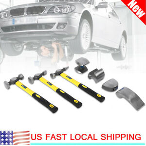 7 Pcs Hand Car Auto Body Work Hammer And Dolly Fender Tool Dent Repair Set Kit