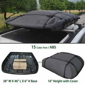Abs Expandable Car Top Roof Bag Luggage Cargo Carrier Weather Resistant Box