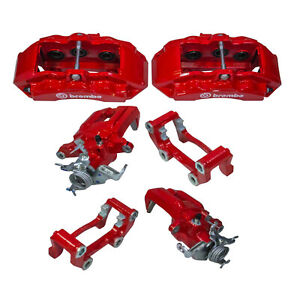 Oem New 2015 2020 Ford Mustang Gt Bullitt Red Brake Caliper Conversion Kit