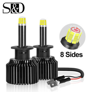 8 sides 360 H1 Csp Led Headlight Bulbs Kit 100w 15000lm High Beam 6000k White