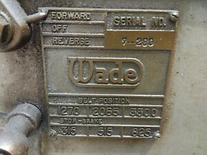 Terrt Lathe Wade 5 c Collets With Collet Closer 3 Ph 220 Power 3 Speeds 5 c