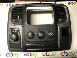 2013 2016 Dodge Ram Center Dash Panel Bezel Trim A c Vents Radio Oem
