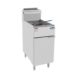 Atosa Atfs 40 Hd 40lb S s Commercial Kitchen Natural Gas Deep Fryer