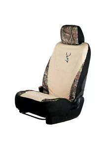Mossy Oak Khaki Universal Camo Lowback Seat Cover Break Up Country Two Covers