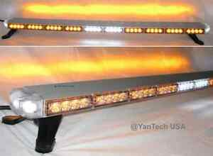 Amber 50 Led Light Bar Tow Truck Roll Back Wrecker W takedown alley brake Light