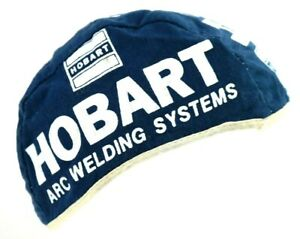 Vintage Hobart Welding Beanie Cap Welders Hat Rare One Size Fits Most Blue
