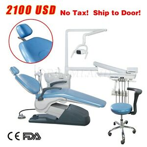 Computer Controlled Dental Chair Fda Hard Leather No Tax Doctor Stool Sky Blue