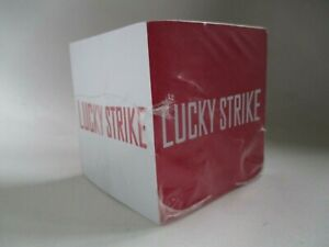 New Collectible Lucky Strike Stik Withit Red White Paper Memo Note Pad Cube