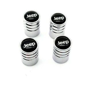 For Jeep Chrome Car Wheel Tire Rim Air Valve Caps Stem Dust Cover Emblem Us