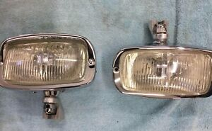 Mercedes Benz 190sl Authentic Hella Fog Lights With Clear Lenses New Nos