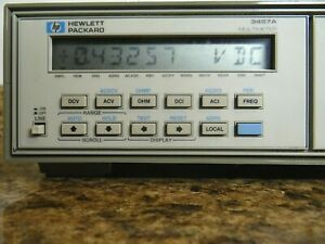 Hp Agilent 3457a Benchtop Digital Multimeter Tested Working my Last Unit