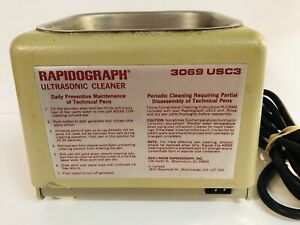 Branson Rapidograph Ultrasonic Cleaner 3069 Usc3 Technical Pen Cleaner Works