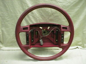 Mustang Steering Wheel Lx Base Model Non Leather W Cruise 90 91 92 93 Red Bgi