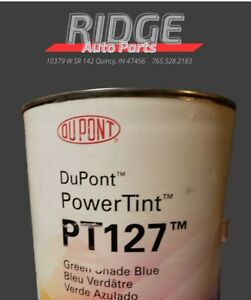Dupont Power Tint Automotive Paint Green Shade Blue Pt127