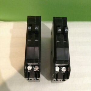 2 Square D Qo2020 20a Twin Tandem Circuit Breakers Free Shipping