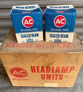 Nos Gm Ac Delco Guide 300 6 Volt Sealed Beam T3 Headlights 1948 1955 Chevrolet