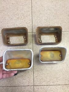 1964 Ford Fairlane 500 Sport Coupe Front Left And Right Trun Signal Park Lights