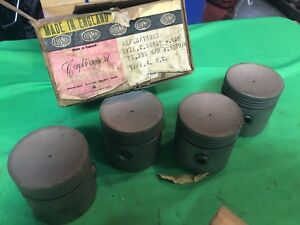 Vintage Nos Covmo Pistons For Mg B 14985 2 9683 020 Made In England