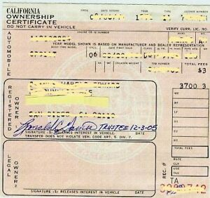 1939 Chevrolet Master Deluxe Title Pink Slip Clean And Clear California