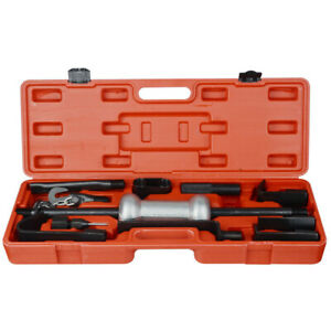 Comprehensive Axle Slide Hammer Dent Grip Panel Bearing Puller Set Tool W case