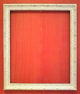 20 X 24 Standard White Carved French Picture Frame All Wood 2 Wide