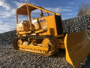 John Deere 450e Long Track Crawler Dozer With Winch And Arch