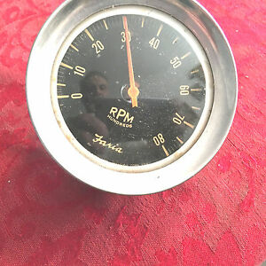 Faria 1960 s Vintage 8 000 Rpm Tach Used Used On Early Big Block Fords Gm