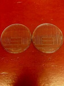 Vintage 4 1 4 Night Hawk Glass Cowl Light Lens Pair Nos Car Motorcycle Bike