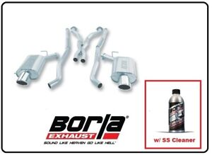 Borla Cat back Exhaust Part W ss Cleaner For 04 07 Cadillac Cts v 140126