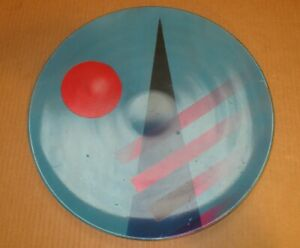 Vintage Midcentury Modern Multicolor Large Metal Decorative Art Platter