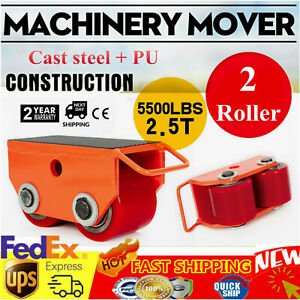 Machinery Mover Dolly Skate Roller Move 360 Rotation 2 5t 5500lb Heavy Duty Us