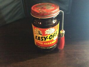 Vintage Easy Off Oven Cleaner With Applicator Attached 8 Oz