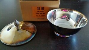 Paul Revere Silver Plate Reproduction Wm A Rogers Sugar Bowl With Cover