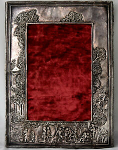 Antique European Sterling Silver Hand Crafted Picture Photo Frame