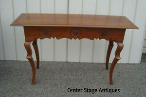 60028 Baker Furniture Cherry Library Sofa Table Hall Stand Console