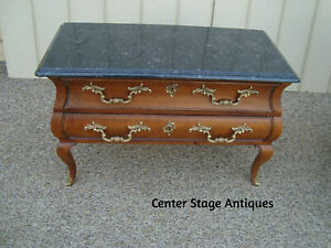 60063 Mount Airey Marble Top Low Dresser Chest Cabinet
