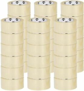 36 Rolls Carton Sealing Clear Packing Tape Box Shipping 1 75 Mil 2 X 55 Yards