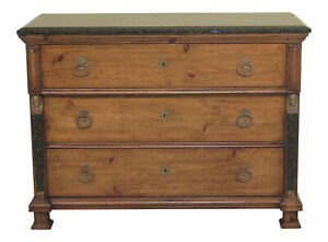 30791ec Ej Victor Marble Top French Empire Dresser Chest
