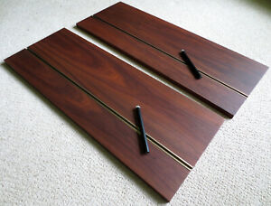 Rare George Nelson Omni Walnut Pair 2 Book Stake Shelf Wall Unit