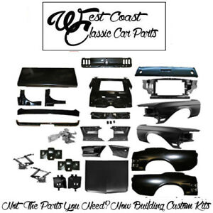 1968 Mustang Coupe Quarters Fenders Hood Core Support Tail Panel Trunk Lid Apro
