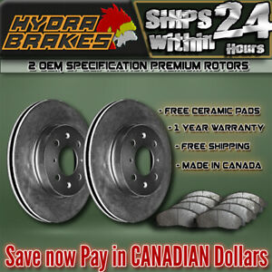 Fits 2003 2004 Ford Expedition 4wd Oe Blank Brake Rotors Ceramic F