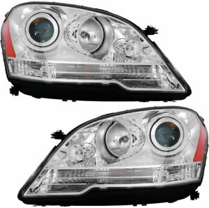 Headlights Assembly Set Pair For 2008 2011 Mercedes Ml320 Ml350 Ml450 Ml500 Ml63