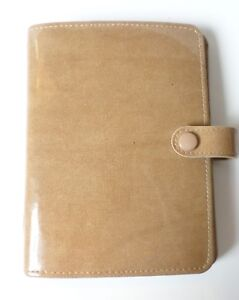 Filofax Pocket Carnaby Organizer Agenda Planner Address Book Tan Coated Canvas